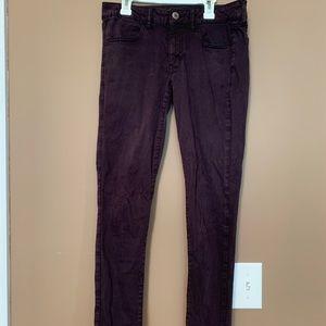 American Eagle super stretch purple skinny jeans!